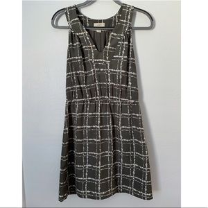 Loft Grey Print Business Dress